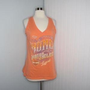 Harley Davidson | Orange Home Tank Top